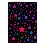 Estrellas del neón tarjeta