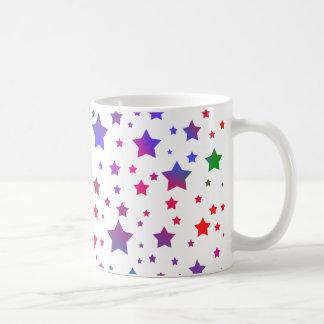 Estrellas del neón tazas de café