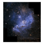 Estrellas del niño en la pequeña nube de Magellani Poster