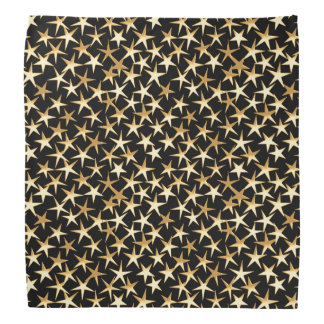 Estrellas del oro en un fondo negro bandanas