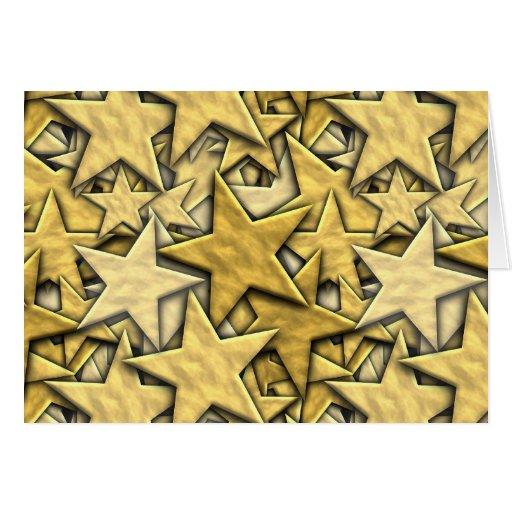 Estrellas del oro tarjeta de felicitación