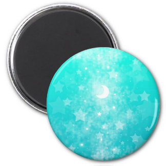 Estrellas del papel y arte celestial de la fantasí imán redondo 5 cm