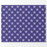 estrellas del patriota 3D en azul Papel De Regalo