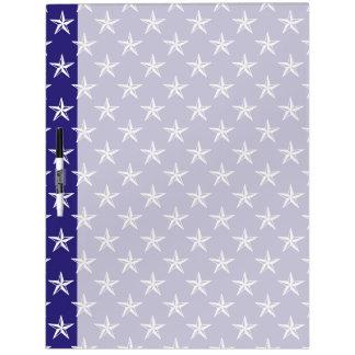 estrellas del patriota 3D en azul Tableros Blancos