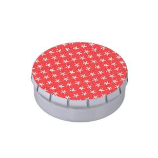 estrellas del patriota 3D en rojo Jarrones De Caramelos