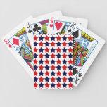 Estrellas del patriota baraja cartas de poker