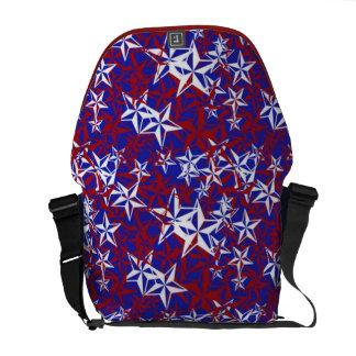 Estrellas del patriota bolsas de mensajeria