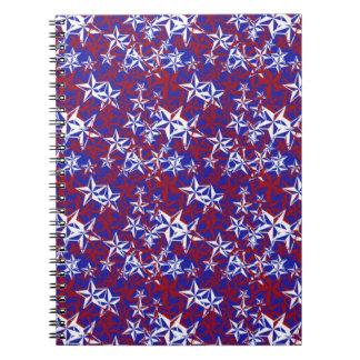 Estrellas del patriota cuadernos