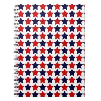 Estrellas del patriota libretas espirales