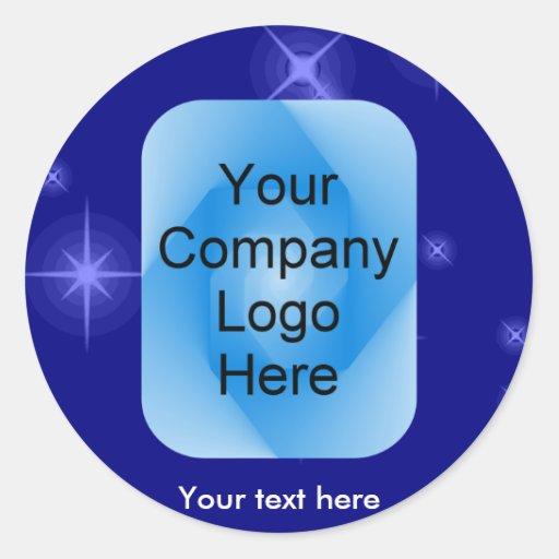Estrellas del pegatina del logotipo de la compañía