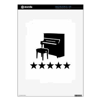 Estrellas del piano skins para eliPad 2