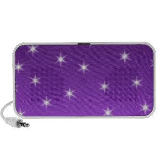 Estrellas del púrpura y blancas, modelo mp3 altavoz