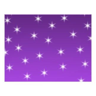 Estrellas del púrpura y blancas, modelo tarjetas publicitarias
