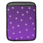 Estrellas del púrpura y blancas, modelo funda para iPads