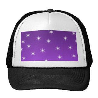 Estrellas del púrpura y blancas, modelo gorras