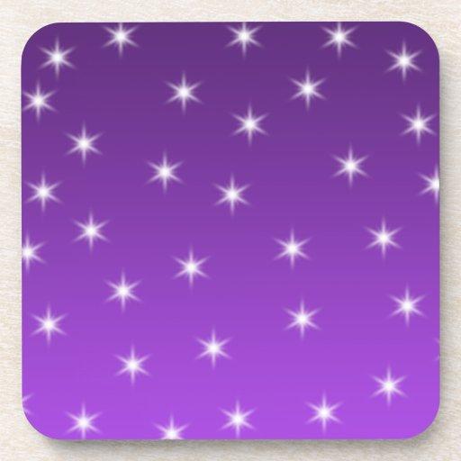 Estrellas del púrpura y blancas, modelo posavasos de bebidas