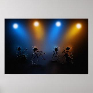 Estrellas del rock póster