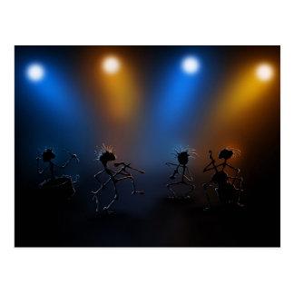 Estrellas del rock tarjeta postal