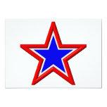 Estrellas del rojo, blancas y azul apilado invitación 12,7 x 17,8 cm
