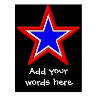 Estrellas del rojo, blancas y azul apilado postal
