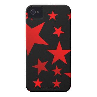 ¡ESTRELLAS DEL ROJO!!! iPhone 4 Case-Mate CÁRCASAS
