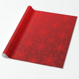 estrellas del rojo papel de regalo