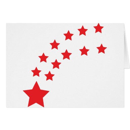 estrellas del rojo que caen felicitaciones