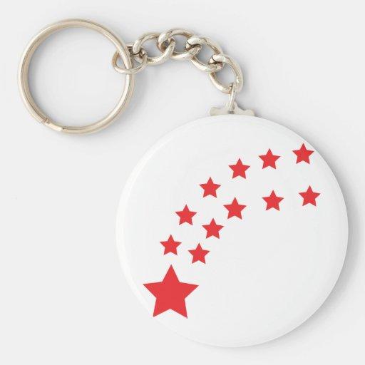 estrellas del rojo que caen llavero personalizado