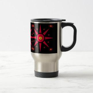Estrellas del rojo tazas de café