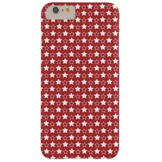 Estrellas del rojo y del blanco funda de iPhone 6 plus barely there