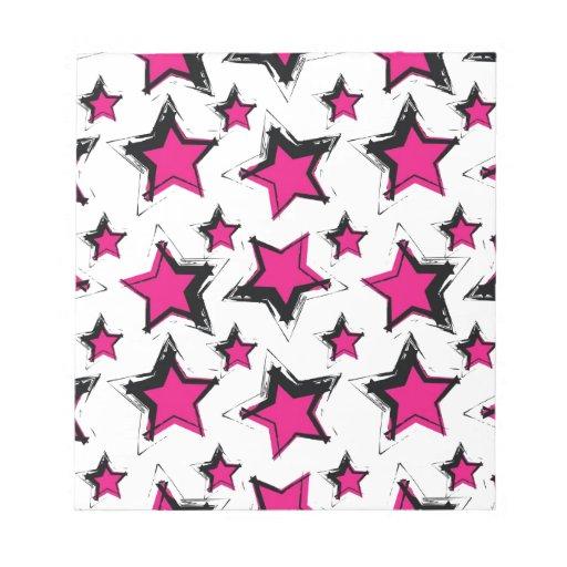 Estrellas del rosa en background.jpg blanco libreta para notas