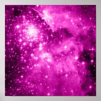 Estrellas del rosa poster
