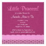 Estrellas del rosa y fiesta de bienvenida al bebé  invitaciones personalizada