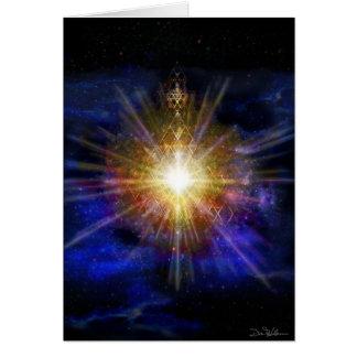 Estrellas del triángulo tarjeta de felicitación