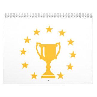 Estrellas del trofeo de la taza calendario