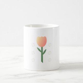 Estrellas del tulipán del melocotón tazas de café