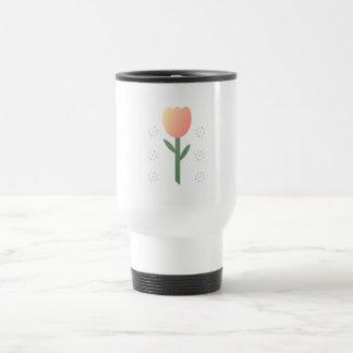 Estrellas del tulipán del melocotón taza de café