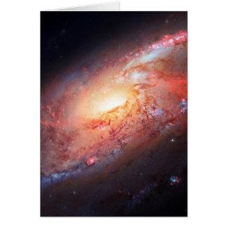 Estrellas del universo de la vía láctea del Androm Tarjetón