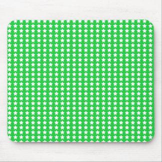 Estrellas del verde tapetes de raton