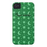 estrellas del verde y modelos de la luna iPhone 4 cobertura