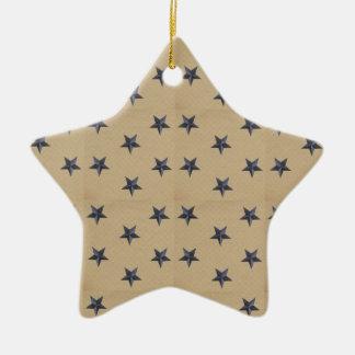 Estrellas dulces de la marina de guerra de la adorno navideño de cerámica en forma de estrella
