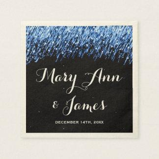 """Estrellas el caer del banquete de boda """"azul del servilletas desechables"""