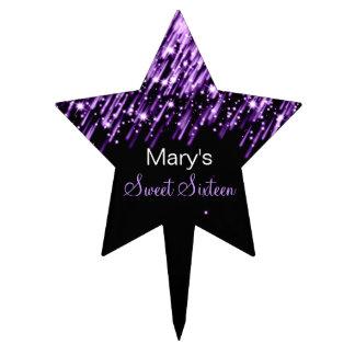 Estrellas el caer del dulce dieciséis púrpuras figura para tarta