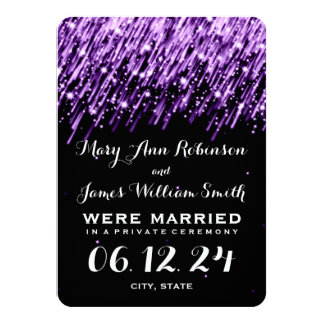 Estrellas el caer elegantes de la fuga de la boda invitación 11,4 x 15,8 cm