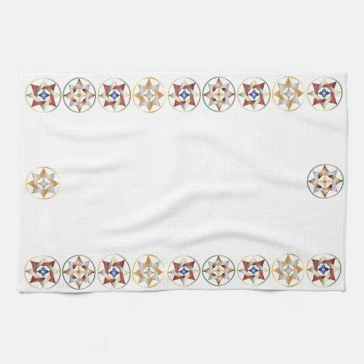 Estrellas en círculos que hacen juego el sistema - toallas de mano