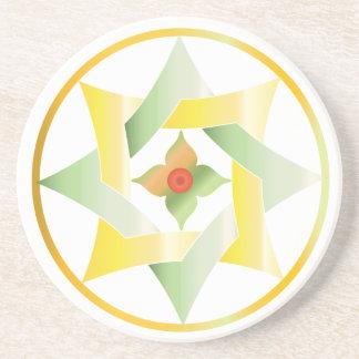 Estrellas en círculos que hacen juego el sistema - posavasos manualidades