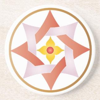 Estrellas en círculos que hacen juego el sistema - posavasos para bebidas
