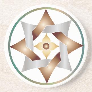 Estrellas en círculos que hacen juego el sistema - posavasos cerveza