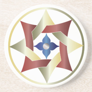 Estrellas en círculos que hacen juego el sistema - posavasos diseño