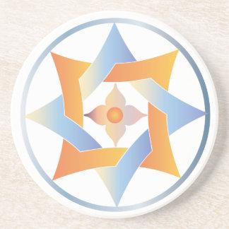 Estrellas en círculos que hacen juego el sistema - posavasos personalizados